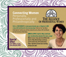 The Alliance of Professional Women Ad