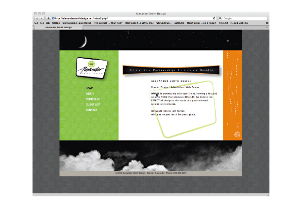 Alexander Smith Design Website