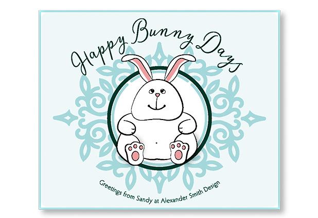 Bunny Illustration Greeting