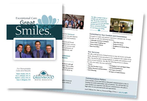 Greenwood Dental Associates Printed Pieces