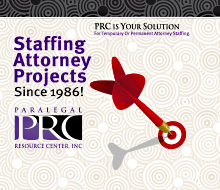 Paralegal Resource Center Staffing Ad
