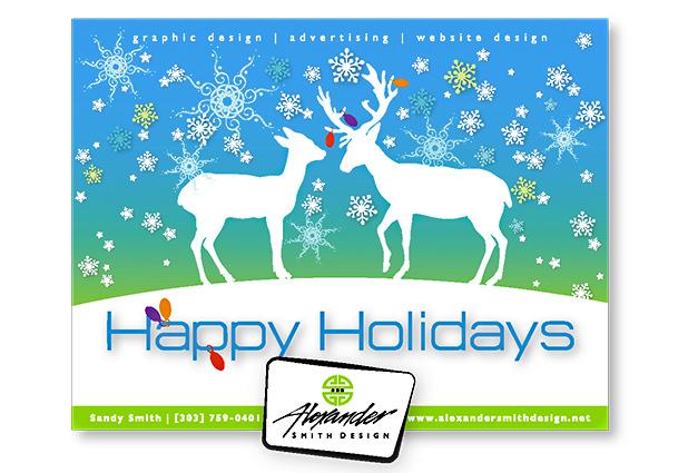 Raindeer Holiday Greeting