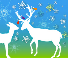 Raindeer Holiday Greeting